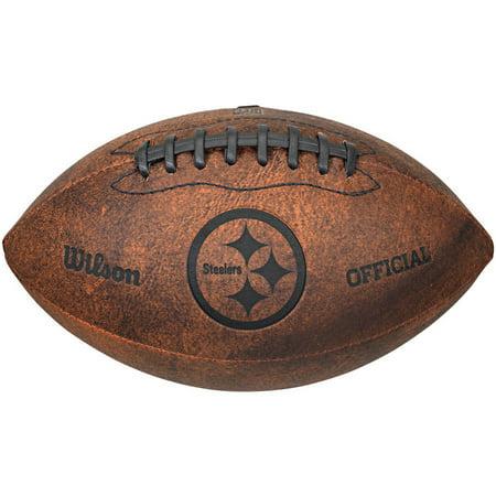 """Wilson NFL 9"""" Throwback Football, Pittsburg Steelers"""