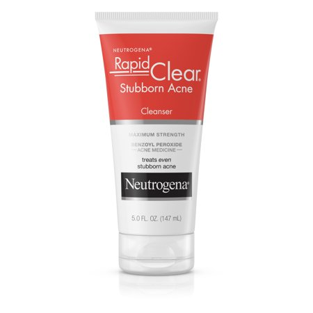 Rapid Patty - Neutrogena Rapid Clear Stubborn Daily Acne Facial Cleanser, 5 fl. oz