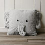 Best Home Fashion Faux Fur Plush Elephant Pillow