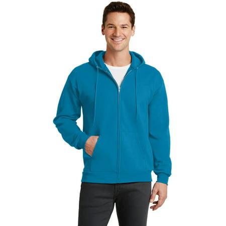 Port & Company® - Core Fleece Full-Zip Hooded Sweatshirt. Pc78zh Neon Blue 3Xl - image 1 de 1