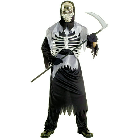 Dom Skeleton Adult Halloween Costume - Unique Group Costume Ideas