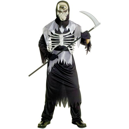 Dom Skeleton Adult Halloween - Skeleton Halloween Makeup Guy