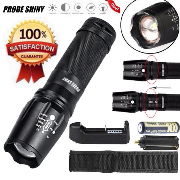 DZT1968® 5000 Lumen G700 LED Zoom Flashlight X800 Military Lumitact Torch Battery Charger