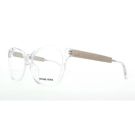 MICHAEL KORS Eyeglasses MK 8015F 3094 Clear/Silver 54MM - Walmart.com