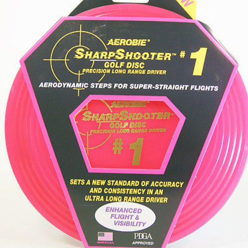 Aerobie SharpShooter #1 Golf Disc Driver (Pink) by Aerobie, inc.