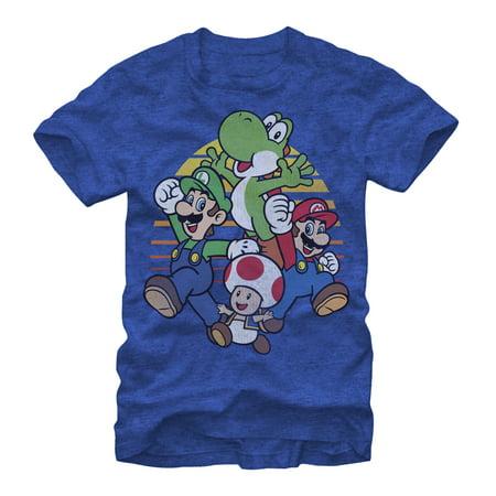 Nintendo Mario Group Jump Mens Graphic T Shirt