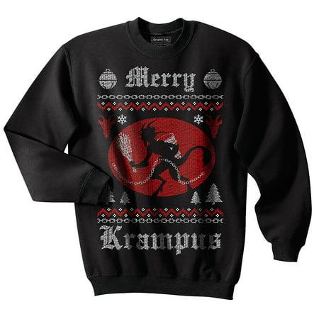 Krampus Ugly Christmas Sweater, Christmas, Saint Nicholas, Chains, Austria, Croatia, Hungary, Germany, Goat (Grinch Christmas Sweater)