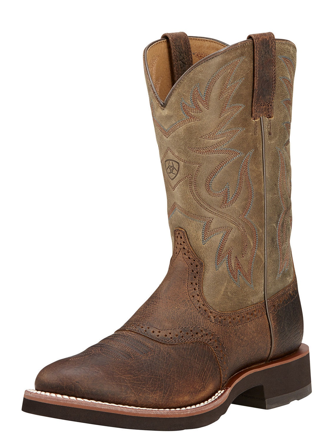 Ariat Heritage Crepe Men Round Toe Leather Brown Western Boot by Ariat
