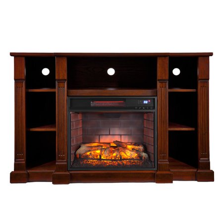 Wildon Home Caswell 50 39 39 Tv Stand With Infrared Electric Fireplace