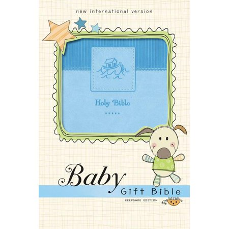 NIV Baby Gift Bible, Holy Bible, Leathersoft, Pink, Red Letter Edition, Comfort Print : Keepsake Edition
