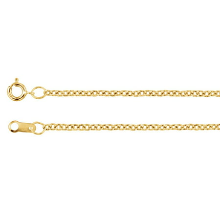 14k Yellow Gold Filled 1.5mm Necklace Cable Chain With Spring Ring - Length: 16 to 30 (14k Gold Fill Necklace)