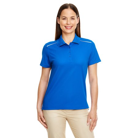 A Product of Ash City - Core 365 Ladies' Radiant Performance Piqué Polo with Reflective Piping - TRUE ROYAL 438 - XS [Saving and Discount on bulk, Code Christo] - Pajama City Promo Code
