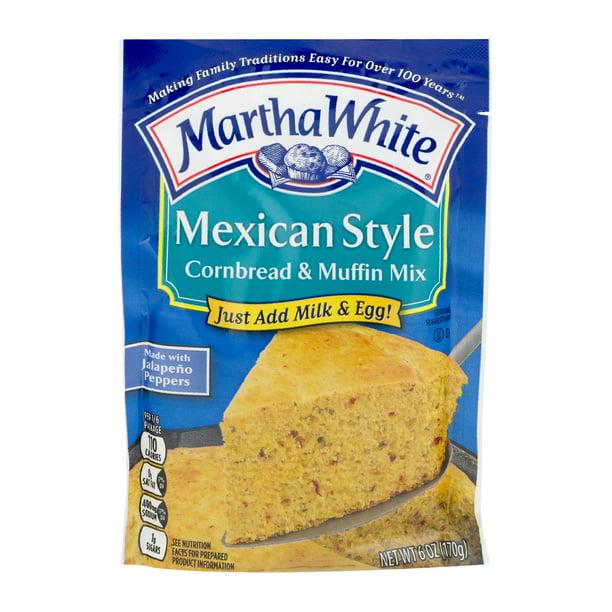 Martha White Mexican Style Cornbread & Muffin Mix, 6 oz ...