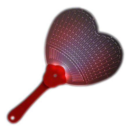 Blinkee HSLHFAN Heart Shaped LED Hand Fan - Heart Shaped Hand Fans