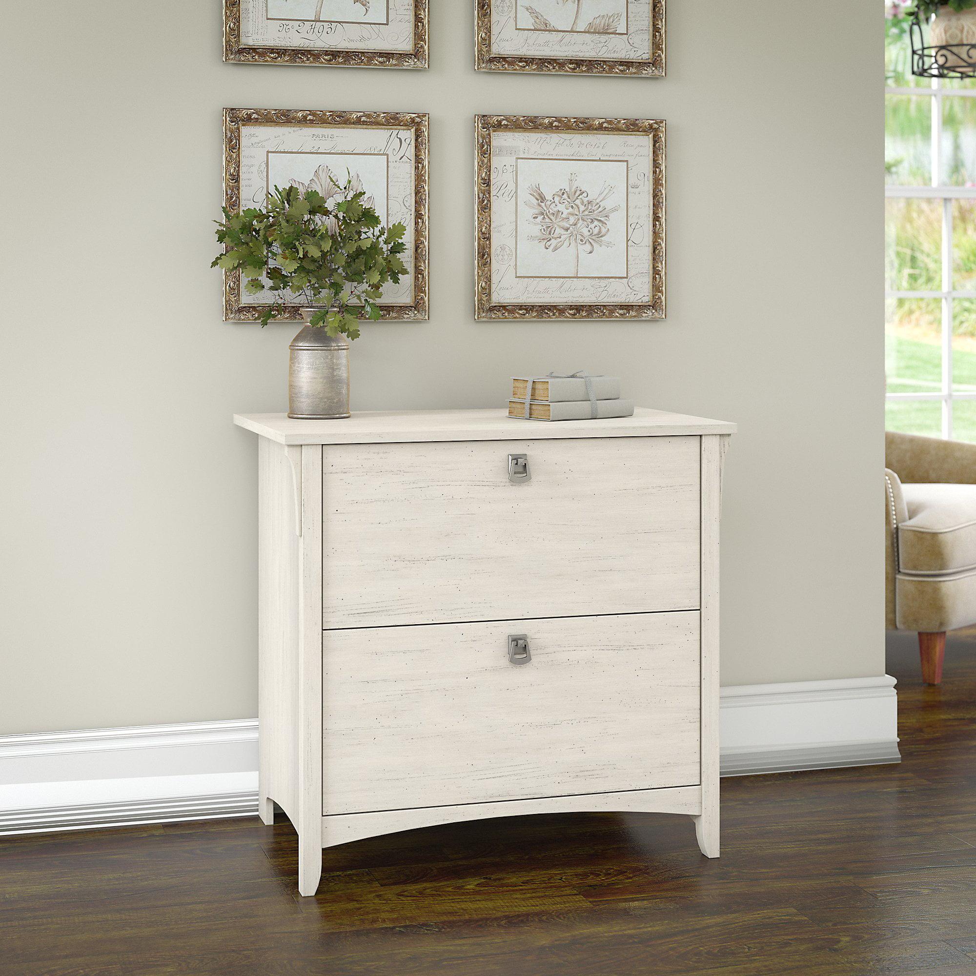 Superbe Bush Furniture Salinas Lateral File Cabinet In Antique White
