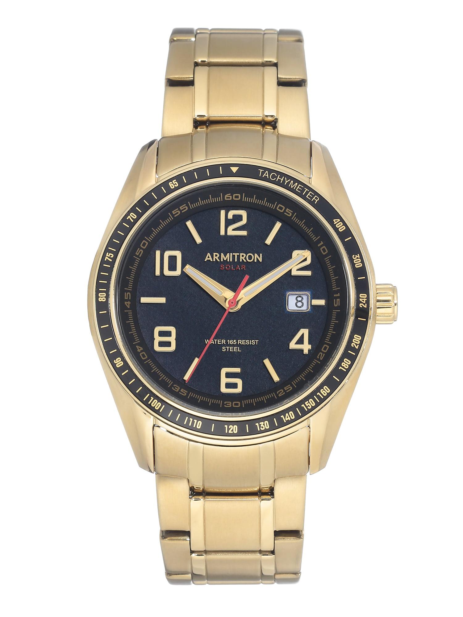 Mens Dress Gold SOLAR Watch