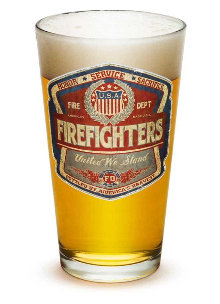 Fire 16 oz. Pint Glass Denim Fade Beer Label by Erazor Bits