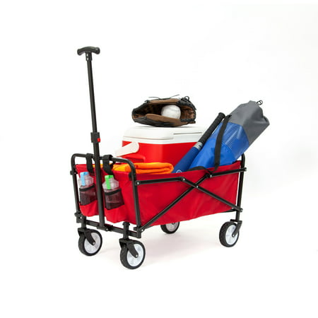 Seina Compact Folding Outdoor Utility Cart - Red