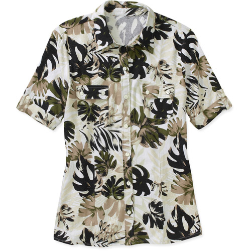 White Stag Women's Cotton Classics Linen Campshirt