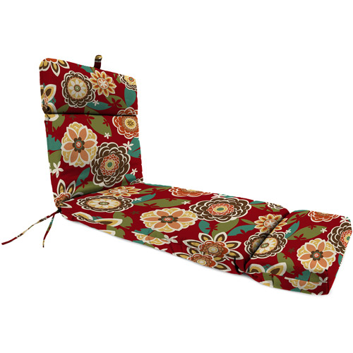 Jordan Manufacturing Outdoor Patio Replacment Chaise Lounge Cushion, Annie Cherry