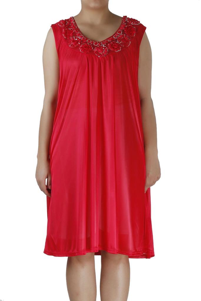 Women's Nightgowns8 Satin Silk Sleeveless Lingerie Nightgown By EZI