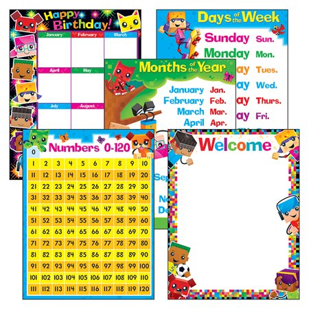 BLOCKSTARS LEARNING CHARTS COMBO PK CLASSROOM - Classroom Behavior Charts