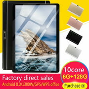 10.1 inch 6G+128G WiFi Tablet Android 8.0 HD 1960 x 1080 Bluetooth Game Tablet Computer With Dual Camera Support Dual SIM Card And Dual Standby Gold