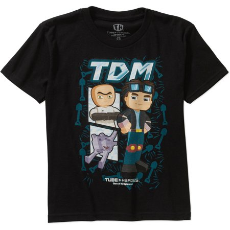 Tube Heroes Tdm Group Shot Boys Graphic Tee