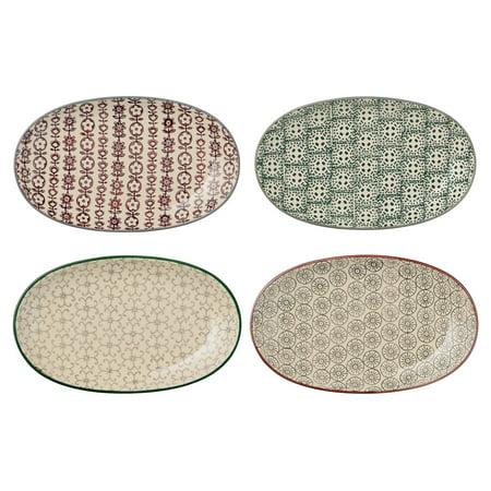Sprinkle & Bloom Karine Ceramic Oval Plates - Set of 4 Styles
