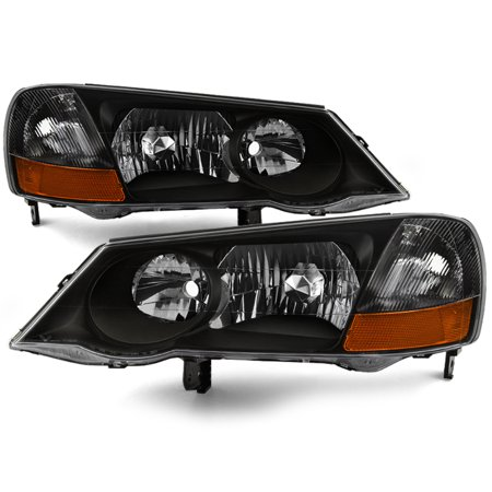 Fit 02 03 Acura Tl Hid Xenon Black Headlights Repalcement 2002 2003 L R