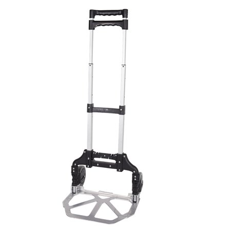 Karmas Product Heavy Duty Aluminum Hand Truck Foldable Dolly Luggage Carts with Wheel,170 lbs, Black