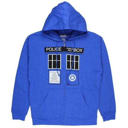 Tardis Jacket (Doctor Who Mens Tardis Doors Hoodie)