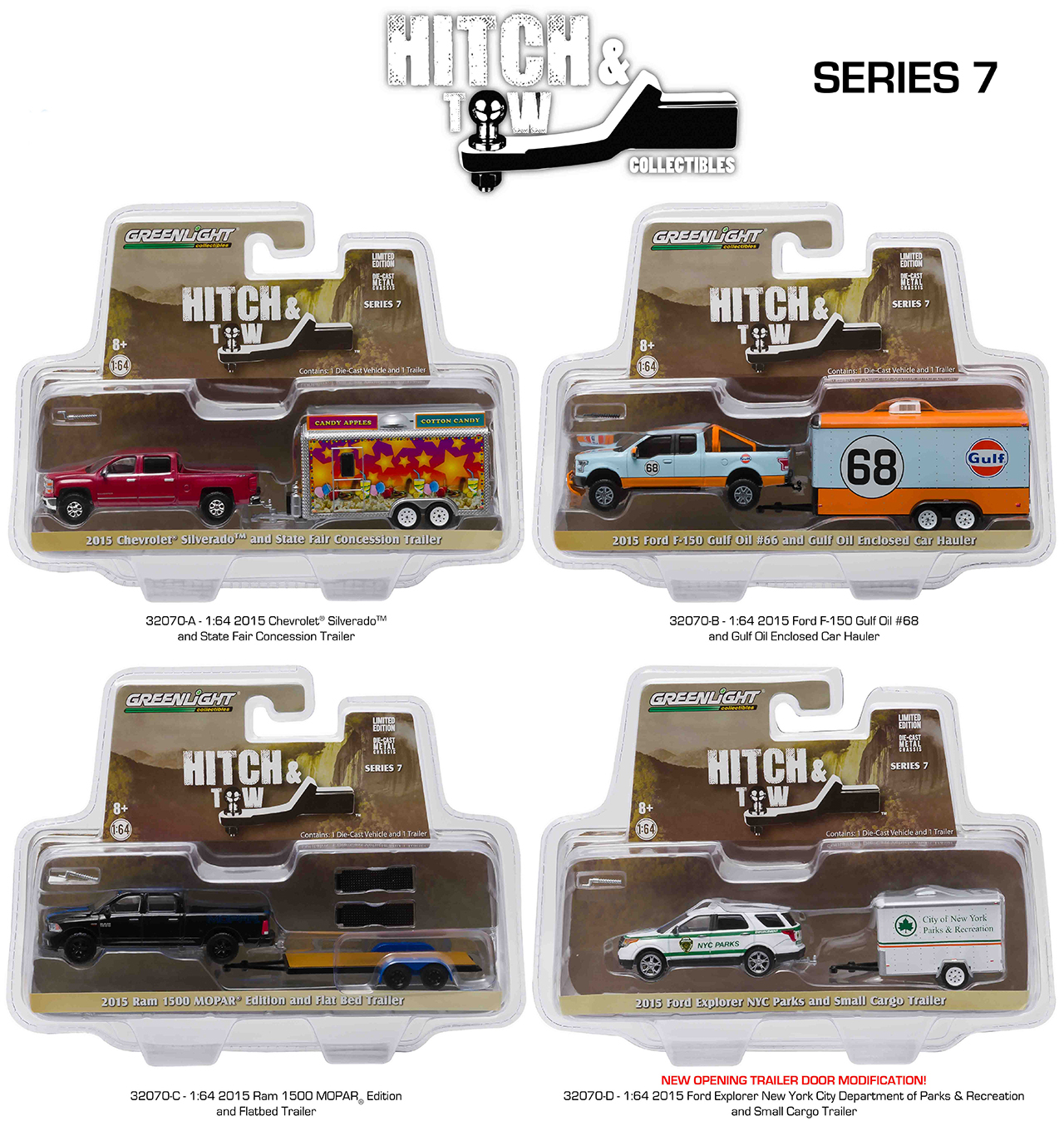 Set of 4: Greenlight Hitch & Tow Series 7