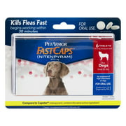 PetArmor FastCaps Oral Flea Tablets for Medium and Large Dogs, 6 Ct