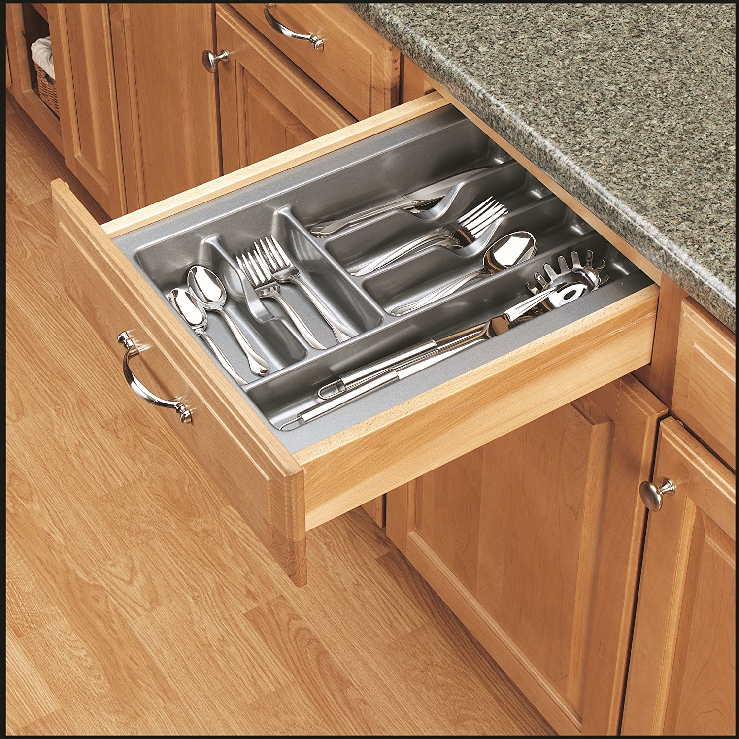 Rev A Shelf Gct 2s 52 Medium Glossy Silver Cutlery Tray Drawer
