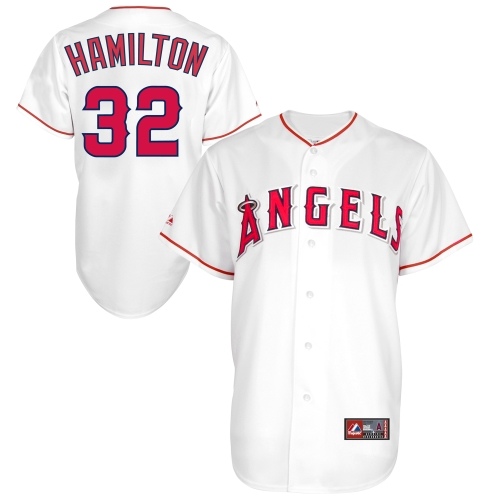 Majestic Josh Hamilton Los Angeles Angels Youth Replica Player Jersey - White