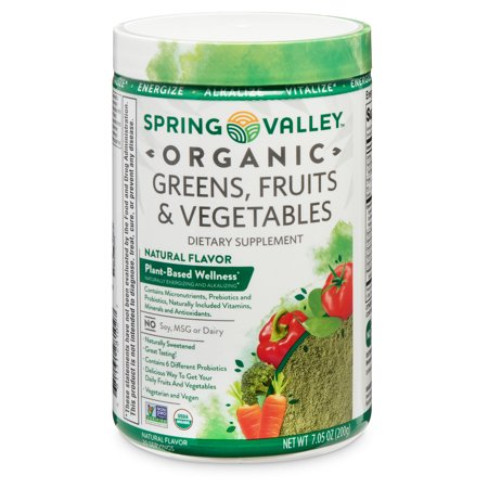 Spring Valley Organic Greens, Fruits & Vegetables Dietary Supplement, 7.05 oz