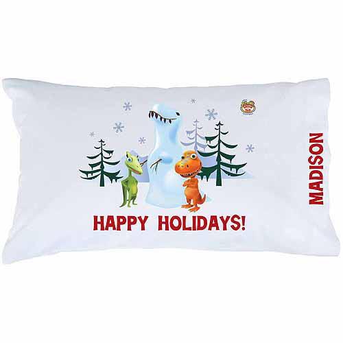 Personalized Dinosaur Train Snow-a-saurus Rex Pillowcase