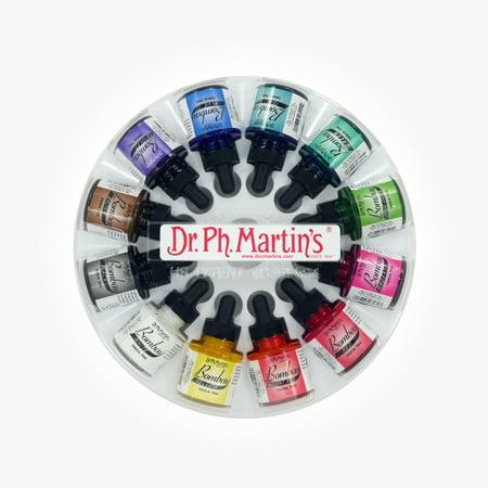 Dr. Ph. Martin's Bombay India Ink, 1.0 oz, Set of 12 (Set 1)