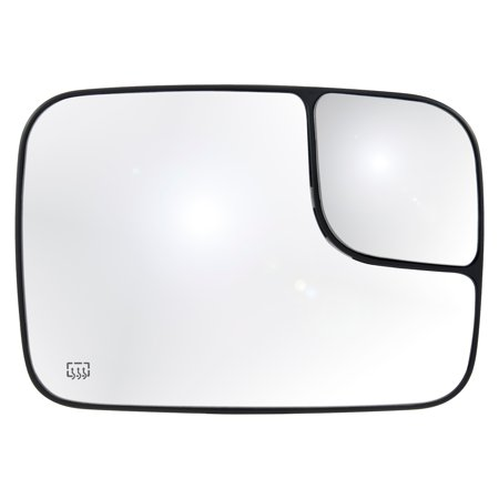 30301 - Fit System Passenger Side Heated Mirror Glass w/ backing plate, Dodge Ram Pick-Up 1500 05-08, Ram Pick-Up 2500/3500 05-09, 7 3/16