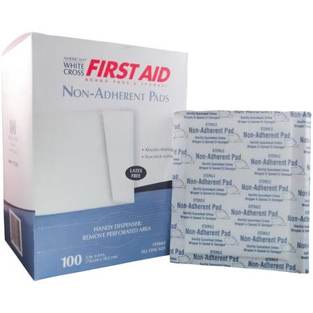 American White Cross Non-Adherent STERILE Gauze Pad (Latex Free) 3