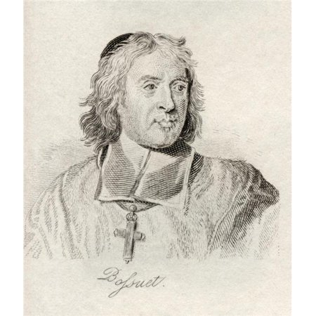 Jacques Benigne Bossuet 1627-1704 Bishop of Meaux French Theologian Court Preacher & Renowned Pulpit Orator From The Book Crabbs Historical Dictionary Published 1825 Poster Print, 13 x 15 - image 1 of 1