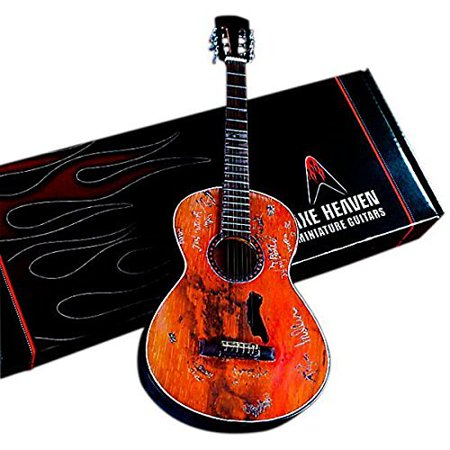 Artist Signature Guitars - Axe Heaven Willie Nelson Signature Trigger Acoustic Miniature Guitar Replica Collectible