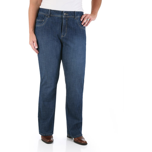 Riders by Lee Women's Plus-Size SlimNet Slimming Straight-Leg Jeans