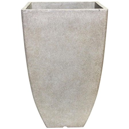 Dynamic Design Hampton Newland Square Planter 10 1 2 In W X 15 1 2 In H  High Density Resin  Bone