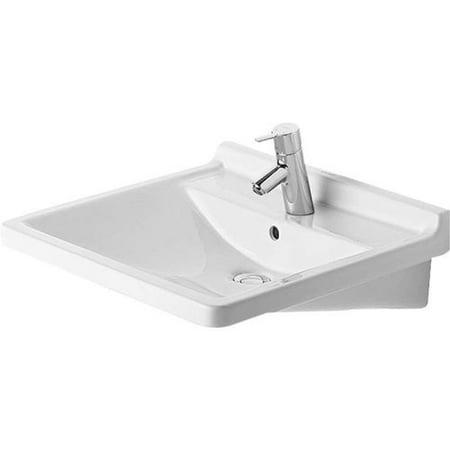 duravit 309600000 starck 3 ceramic 23 58 wall mounted bathroom sink with - Wall Mounted Bathroom Sink