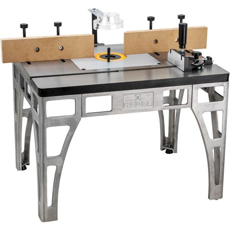 Woodstock International W2000 Adjustable Rebel Router Shaping Workstation Table (Craps Table Accessories)