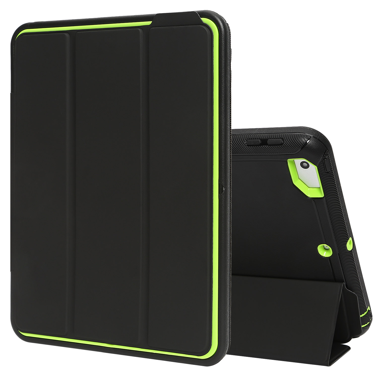 "TKOOFN Hybrid Shockproof Auto Sleep/Wake Function Heavy Duty Smart Case Cover for Apple 2017 New iPad 9.7""(A1822 A1823)"