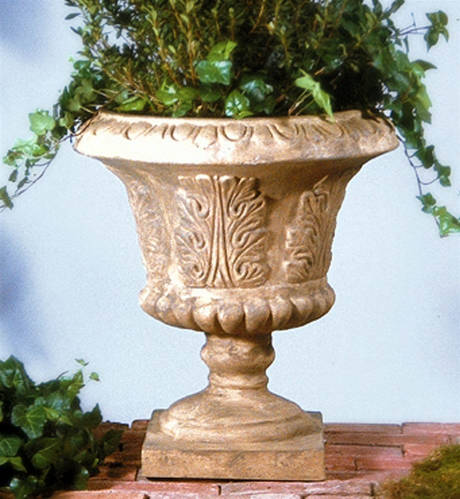 Large Leaf Tuscany Urn in Tea Stain Finish by Urns