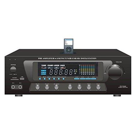 300 Watt Stero Receiver with Built-In iPod Docking Station -AM-FM Tuner, USB Flash & SD Card Readers & Subwoofer Control